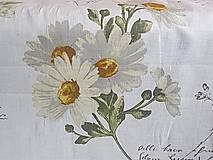 Textil - ľan margarétky - 7233673_