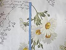 Textil - ľan margarétky - 7233676_