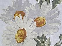 Textil - ľan margarétky - 7233678_