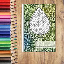 Papiernictvo - Zápisníky Farebná jeseň ((vlny) - list 6) - 7233953_