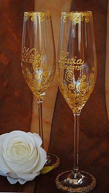 Nádoby - Svadobné poháre - 7238492_