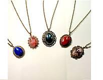 Bronze Gemstone Vintage Necklaces III. / Náhrdelníky s minerálmi vo vintage štýle