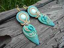 Soutache náušnice Turquoise Sea