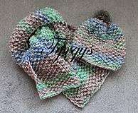 """Čiapky - Detská čiapka a šál """"pastelka I"""" - 7240434_"""