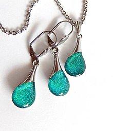 Sady šperkov - Světlá tyrkysová sada z oceli - 7237758_