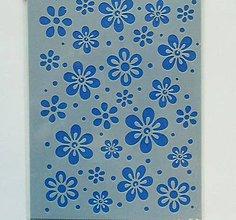 Pomôcky/Nástroje - Šablóna - 15x20 cm - kvetinky, záplava kvietkov - 7238265_