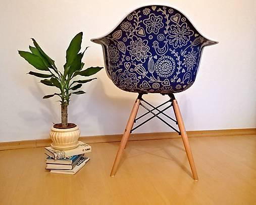 Stolička DAG Modrotlač