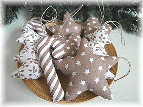 Dekorácie - Vianočné ozdoby- latte - 7238036_