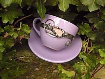 - Šálka na kávu ozdobená ruženínom - 7237899_