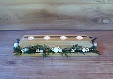 Svietidlá a sviečky - Vianočný/adventný svietnik - 7239349_