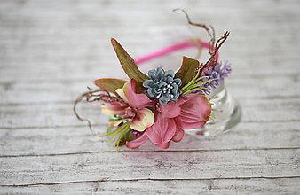 Ozdoby do vlasov - Jemná kvetinová čelenka - 7241530_