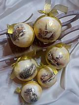 Dekorácie - Vianočné gule Zima - 7241288_