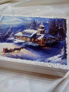 Krabičky - Krabička Zimná krajinka - 7241403_