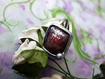 - prsteň cín + oceľ so slnečným kameňom  - 7238956_