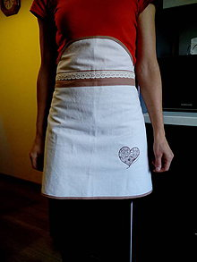 Iné oblečenie - Ľanová zástera z tradičného ľanového plátna - 7238068_