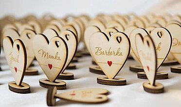 Darčeky pre svadobčanov - Drevené menovky - 7241444_