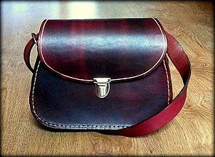 Kabelky - Ručne šitá kožená mini kabelka ,,Kiara\