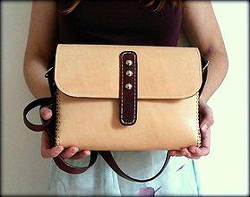 Kabelky - Ručne šitá kožená kabelka Sellah - 7239604_