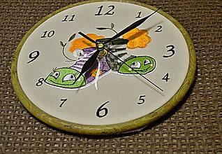 Detské doplnky - hodiny detské-vyšívané - 7241119_