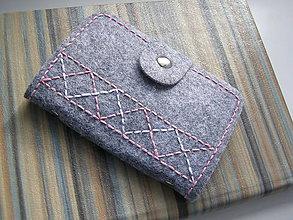 Peňaženky - Obal na doklady - Folk grey - 7238273_