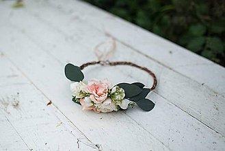 Ozdoby do vlasov - Kvetinový venček... na želanie - 7238004_