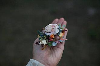 Odznaky/Brošne - Kvetinová brošňa/sponka