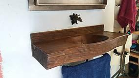 Nádoby - Drevené umývadlo č. 1.  - 7237807_
