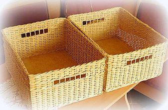 Košíky - Košík prírodný č 7 - 7239644_