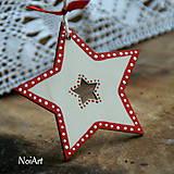 Vianočná ozdoba hviezda folk