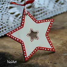 Dekorácie - Vianočná ozdoba hviezda folk - 7242014_
