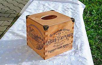 """Krabičky - Box na vreckovky """"Countryside"""" - 7244752_"""