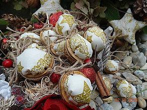 Dekorácie - Vianočné ozdoby maxi oriešky 2 - 7245932_