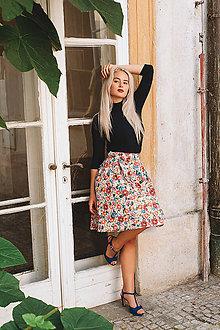 Sukne - Zavinovací sukně Bohemian Flowers - 7241757_
