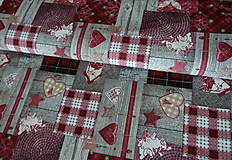- Látka Patchwork bordó - 7243640_