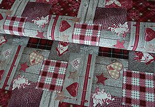 Textil - Látka Patchwork bordó - 7243640_