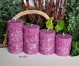 Svietidlá a sviečky - Red Plum - adventné sviečky - 7244247_
