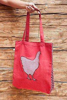 Nákupné tašky - Károvaná kura - 7245376_