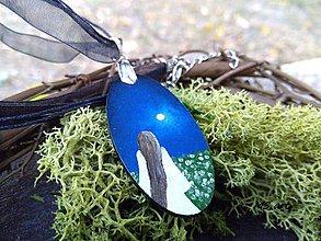 Náhrdelníky - Nočné kvety - maľovaný náhrdelník - Víla - 7243276_