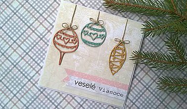 Papiernictvo - Vianočná pohľadnica fresh 2 - 7242476_