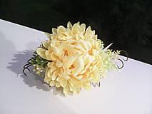 """Ozdoby do vlasov - Kvetinový hrebienok do vlasov """"...čas slnečných chryzantém"""" - 7243450_"""