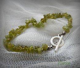 Náramky - Náramok z olivínu - 7242447_