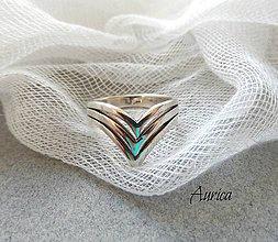 Prstene - Strieborný prsten - 7242546_