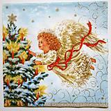 - Servítka Anjel a vianočný stromček - 7241787_