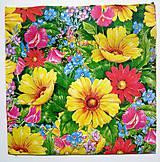 - Servítka- pestré kvety - 7242280_