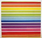 Papier - Servítka- pestrofarebné pásiky - 7242305_