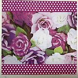 Papier - Servítka- fialové ruže - 7242314_