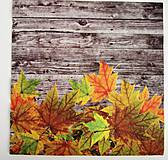 Papier - Servítka- jesenné listy - 7242416_