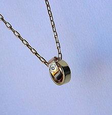 Náhrdelníky - krúžky s briliantom - 7244090_