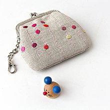 Peňaženky - Peňaženka mini Ružové kvapky - 7242877_