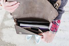 Veľké tašky - Eggo aktovka Benedict Large šedá - 7245187_